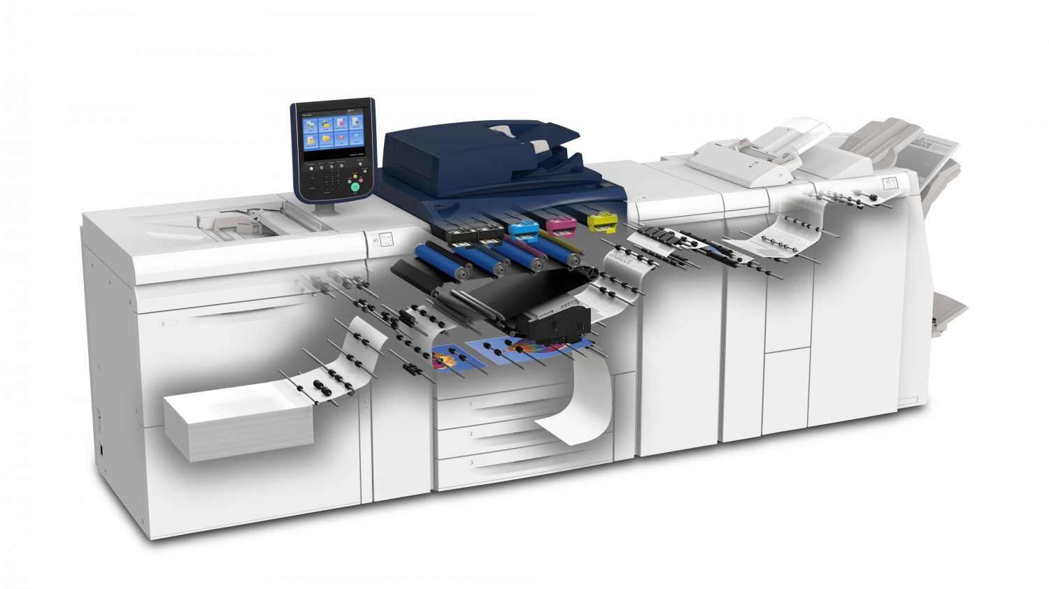 High quality of digital printing colorama coloured equipment which helps us produce very quickly digital printing products on various types of paper and cardboard in an automatic flow reheart Gallery